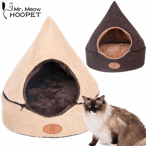 HOOPET Pet Dog Cat Tent Bed House All Washable Dirt-resistant Soft Hershey's Chocolate Yurt Bed with Double Sided Cushion