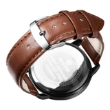 Men Brand SKONE genuine Watches 30m waterproof leather women & Men's Watch Business Casual Fashion Quartz Watches montre homme