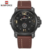 NAVIFORCE Top Luxury Brand Men Sports Military Quartz Watch Man Analog Date Clock Leather Strap Wristwatch Relogio Masculino | calizota
