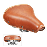Vintage Bicycle PU Leather Saddle Seat with Double Damping Springs | calizota
