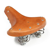 Vintage Bicycle Pure Trunk Leather Rivet Cushion Saddle | calizota