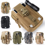 Outdoor Camping Climbing Bag Tactical Military Molle Hip Waist Belt  Wallet Pouch Purse Phone Case for iPhone 7 for Samsung | calizota