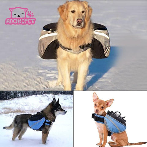 Outdoor dog Saddle backpack bag pet cat dog carrying bags Medium and Large Dog Pack Bag for Hiking Training pet carrier product | calizota