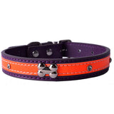 Personalized Crystal Studded Reflective Dog Collar Pu Leather Collars For Dogs Necklace Pet Products For Animals