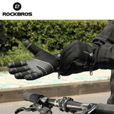 ROCKBROS Bike Gloves Winter Thermal Windproof Warm Full Finger Cycling Glove Anti-slip Bike Bicycle Gloves for Man Woman | calizota