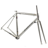 SEABORAD Reynolds 725 Steel Frame Heat Treatment Welding Fork Caliper Brake Road Bike 700C Classic Chrome Frameset Silver | calizota