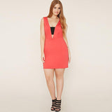 Sleeveless Dress Summer Party Dresses Women Plus Size Clothing 2017 Sexy Slim Bodycon Dress Big Size V Neck Red Vestidos 4x 5xl