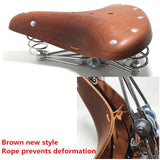 Vintage Genuine Leather Old Style Bicycle Spring Saddle | calizota
