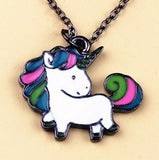 Timlee N056 Free shipping Cartoon Cute Rainbow Horse Unicorn Design Metal  Necklaces Fashion Jewelry  Wholesale