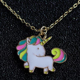 Timlee N056 Free shipping Cartoon Cute Rainbow Horse Unicorn Design Metal  Necklaces Fashion Jewelry  Wholesale | calizota