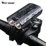 West Biking Dual Two Lights Bicycle Headlight Waterproof T6 Bulb Double Bracket USB Rechargeable Flashlight Strong Bike Light | calizota