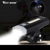 West Biking USB Rechargeable Bike Light Front Handlebar Sports Cycling Led Lights Battery Flashlight Torch Bicycle Headlights
