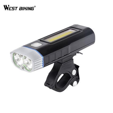 West Biking USB Rechargeable Bike Light Front Handlebar Sports Cycling Led Lights Battery Flashlight Torch Bicycle Headlights | calizota