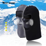 West Biking Winter Cycling Face Mask Dust-proof Windproof Fleece Warm Full Face Cap Scarf Neck Snowboard Thermal Bicycle Mask | calizota