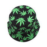Weed Print Foldable Cotton Summer Outdoor Bucket Fishing Hat | calizota