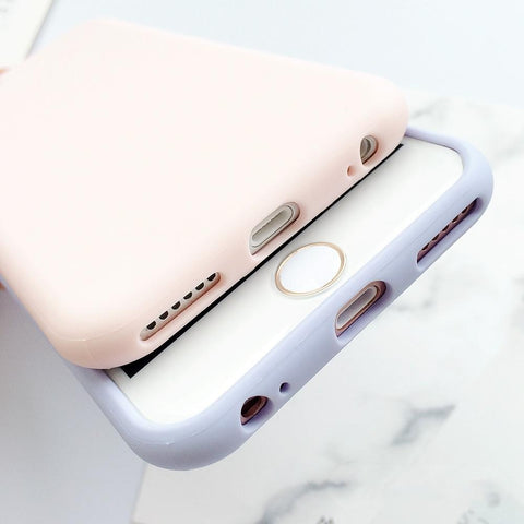 XBXCase Macarons Color TPU Silicone Frosted Matte Soft Case for iPhone | calizota