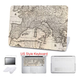 ZEGENE 5 in 1 Bundle Old World Map Hard Cover For Macbook | calizota