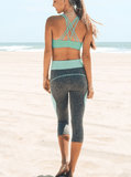 Sexy Mint Capri Yoga Leggings | calizota