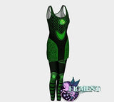 Cyberpunk Outfit in Green - Dress & Leggings - cyberpunk costume, rave outfit, Tron costume, Halloween costume, cybergoth dress, robot | calizota