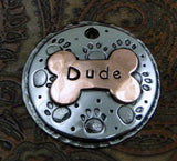 Custom Pet ID Tag, Dog Paw ID Tag, Dog Tag for Dogs, Dog Collar Tag, Domed Paw Print | calizota