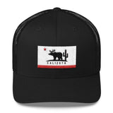 Calizota Logo 3D Puffy Flag Trucker Cap | calizota