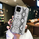 Snakeskin Pattern Phone Cover Case For iPhone