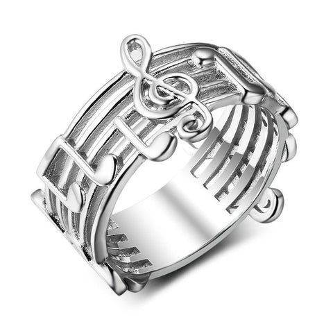 CPLN Musical Note Pattern Ring for Music Lover
