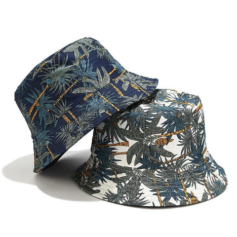 Feitong Reversible Coconut Tree Bucket Hat