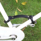 Tourbon 50mm Genuine Leather Bicycle Frame Handle Carrier for Easy Carrying