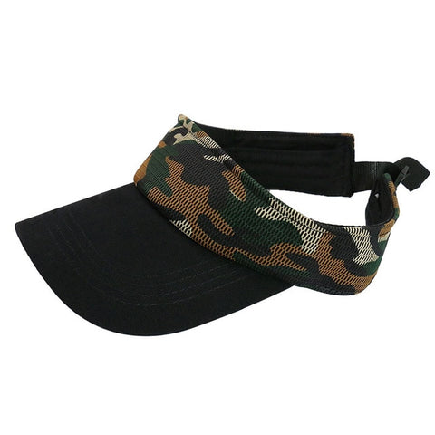 Pearl Diary Camo Summer Cotton Mesh Visor Hats for Hiking Running