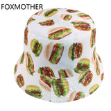 FOXMOTHER Reversible Food Hamburger / French Fries / Egg Yolk Bucket Hats