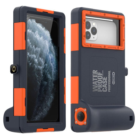 Professional Diving Phone Case Waterproof Depth Cover For iPhone (Blue)