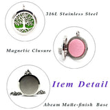UBELIEVE Tree Of Life Hollow Aromatherapy Diffuser Magnetic Locket Pendant Necklace