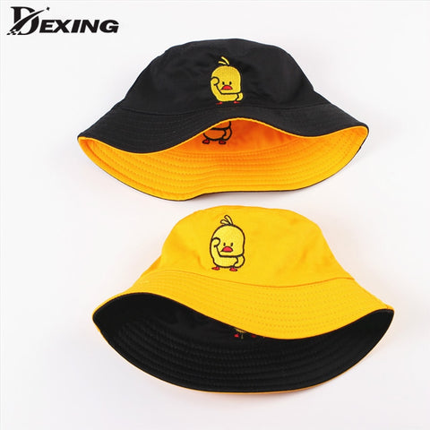 Dexing Double-sided Embroidered Bucket Hat