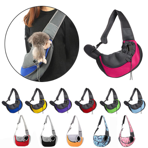 Mesh Comfort Pet Carrier Shoulder Sling Bag