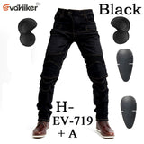 EvoHiker 719 Black or Blue Breathable Net Motorcycle Protection Pants
