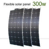 DGSunlight solar panel kit 300w 200w 100w flexible solar panels 12v 24v high efficiency battery charger module