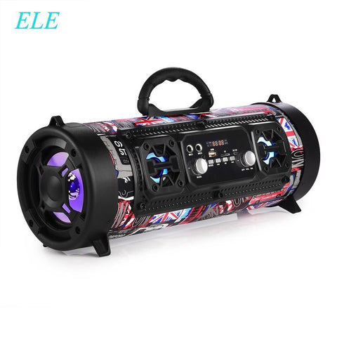 ELEOPTION 16W Portable Column 3D Sound Bar Subwoofer FM Radio USB Wireless Bluetooth Speaker