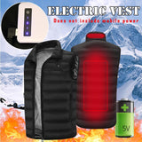Aiwetin Outdoor USB Electric Infrared Heating Turtle-Neck Vest Jacket