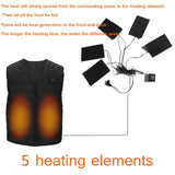 Aiwetin Outdoor USB Electric Infrared Heating V-Neck Vest Jacket