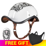 HEROBIKER Open Face Retro Mullet Back ECE Certified Motorcycle Helmet