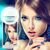 XUNATA USB LED Clip-on Ring Light Phone Selfie Enhancing Fill Light