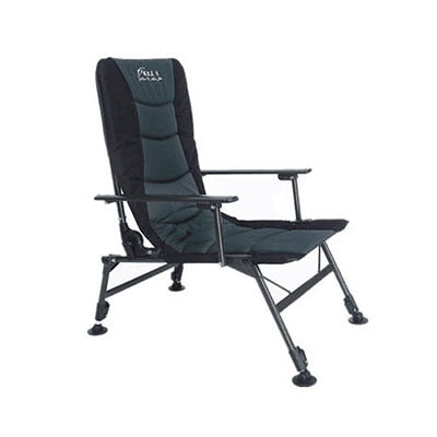 PUMER Folding Chair Oversized Steel Frame Collapsible High Back Padded Arm Chair