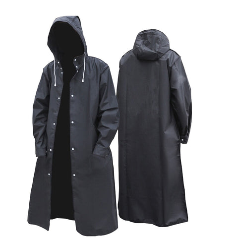 YUDING Mens Waterproof Long Hooded Raincoat