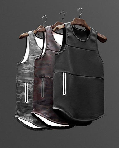 Mens B-85 Broadcloth Quick-Drying Fitness Vest
