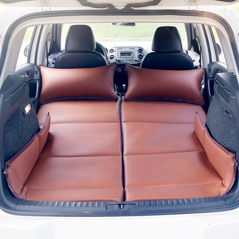 Non-inflatable Faux Leather Folding SUV Trunk Bed Rear-row Universal Sleeping Mattress