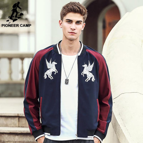 Pioneer Camp New arrival brand men jacket fashion designer clothing top quality male casual zipper jacket coat for men 677113 | calizota