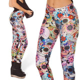 Fashion Ladies Skull Printed Leggings | calizota