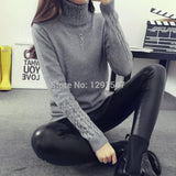 Hot 2017 Spring Autumn Women Sweaters and Pullovers Fashion turtleneck Sweater Women twisted thickening slim pullover sweater