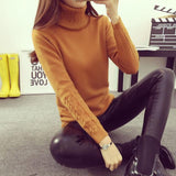 Hot 2017 Spring Autumn Women Sweaters and Pullovers Fashion turtleneck Sweater Women twisted thickening slim pullover sweater | calizota